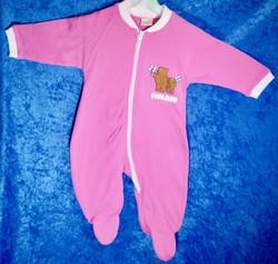Potkupuku vauvalle, Finland suomenliput ja nallet, pinkki kids 62-74cm