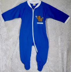 Potkupuku Finland suomenliput ja nallet, sininen 62-74cm kids
