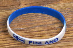 Rannekoru Finland suomenlippu sinivalkoinen kumiranneke