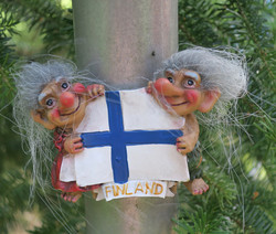 Magneetti trolli-peikot ja suomenlippu, Finland