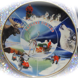 Seinälautanen 15cm Lapland, revontulet, lumisia aktiviteetteja