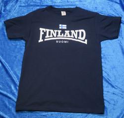 T-paita Finland, suomen lippu, Suomi, tummansininen suomipaita