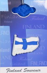 Magneetti Suomenlippu, Finland, 35x30mm, silikonia
