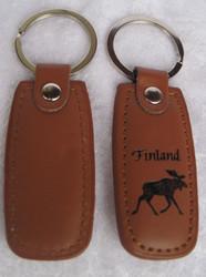 Avaimenperä hirvi Finland koko 35x75mm+avainrengas