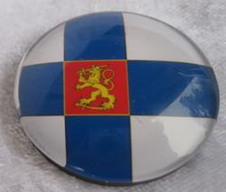 Magneetti: Suomen lippu, vaakunaleijona 35mm pyöreä
