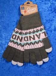 Käsineet lämpimät, kosketusnäyttö sormikkaat, vihreä-vaaleanpun f18b