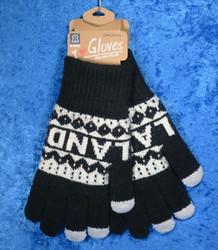 Käsineet lämpimät, kosketusnäyttö sormikkaat, musta-valkoinen f18a