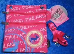 Passipussi, passport bag: Finland, poro, pinkki