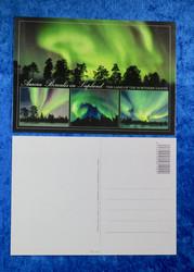 Postikortti revontulet 4 kuvaa, vihreä