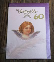 Postikortti ja kirjekuori: Onnea ystävälle 60v, enkeli (en60v)