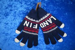 Käsineet lämpimät, kosketusnäyttö sormikkaat, tummansininen f18f