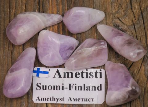 Ametisti rumpuhiottu 5-9g Yli-Luosto Suomi