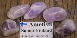 Ametisti rumpuhiottu  10-14g Yli-Luosto Suomi
