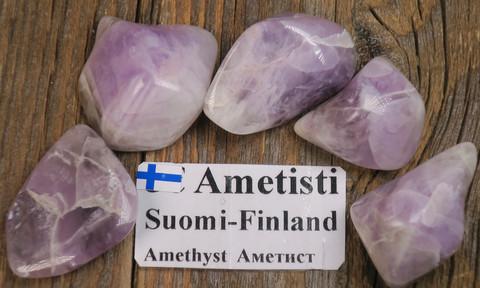 Ametisti rumpuhiottu 15-20g Yli-Luosto Suomi