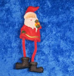 Magneetti: joulupukki, lötköjalat, pituus n.9cm