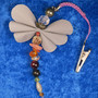 Heijastin LEIJONA onnenkivet,  perhonen nipsukiinnitys