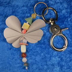 Heijastin avaimenperä RAPU CANCER onnenkivet perhonen,  jykevä lukko