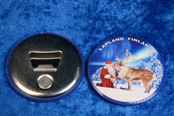 Magneetti joulupukki ja poro, pullonavaaja, metallia