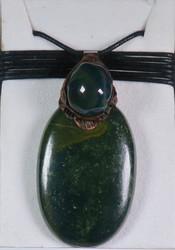 Riipus heliotrooppijaspis iso vihreä n 5,5cm, liukusolmunauhassa nro2