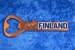 Magneetti pullonavaaja Finland hirvi, kuparin värinen