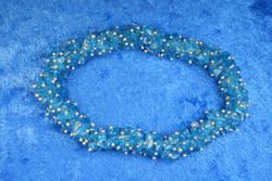 Rannekoru apatiitti sininen paksu sipsi 925-hopea