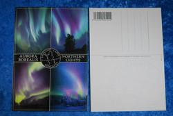 Postikortti revontulet, 4 kuvaa, Aurora Borealis, Northern Lights