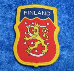 Hihamerkki Suomen leijona 7x5mm kangasmerkki