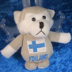 Magneetti Husky pehmolelu, rinnassa suomen lippu - Finland, 13cm