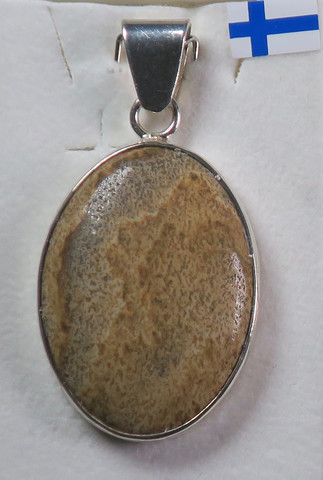 Riipus maisemajaspis ovaali 22x30mm, 925-hopea
