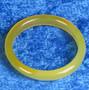 Akaattisormus 18mm keltainen kivisormus, leveys 3mm