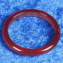 Akaattisormus 17mm oranssi karneoli kivisormus, leveys 3mm