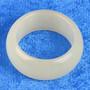 Akaattisormus 18mm vaaleankeltainen kivisormus leveys 10mm
