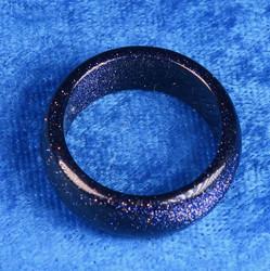 Kivisormus 22mm tähtikivi sininen aventuriini leveys 10mm
