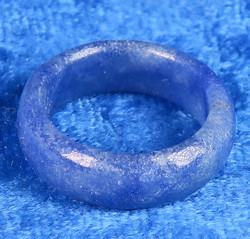 Kivisormus 15,5mm sinikvartsi leveys 6mm