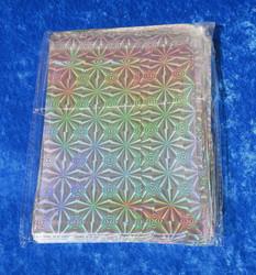 Foliopussi hopean värinen lahjapussi  12x14cm 100kpl teippisuljenta