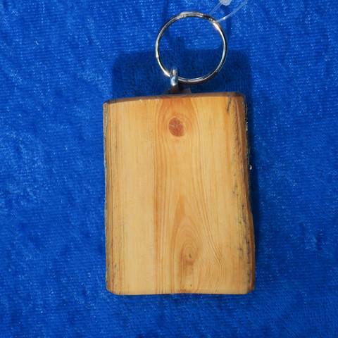 Avaimenperä kelopuuta koko kesim. 5x4x1,5cm