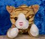 Pehmolelu kissanpentu punaruskea raidallinen 14cm, vauvalelu