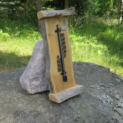 Lämpömittari lapin kelohonkaa, hevosenkenkä, korkeus 38,5cm