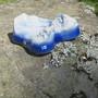 Tuikkualusta lumiset vuoret, keramiikkaa sinivalkoinen 175x145mm