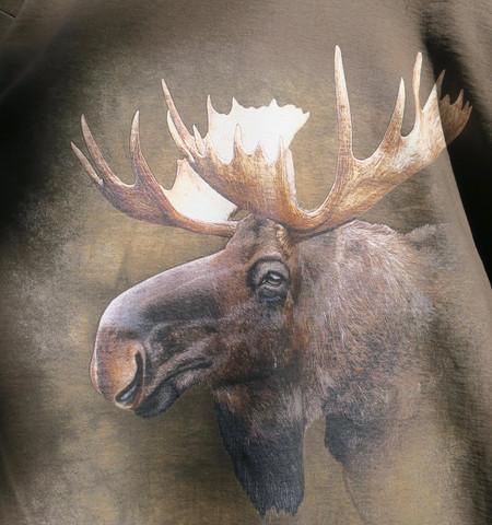 T-paita Hirvi -Finland, suklaanruskea M-koko