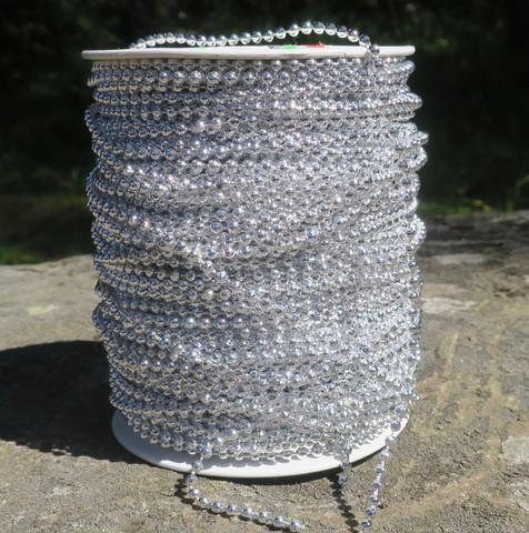 Askartelutarvike palloketju 2-3mm hopeanvärinen, muovia, metrihinta