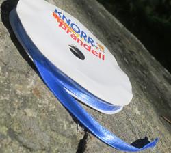 Askartelutarvike satiininauha sininen 6mm, metritavarana