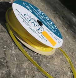 Askartelutarvike polyesternauha keltainen 3mm, metritavarana