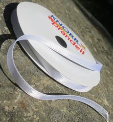 Askartelutarvike satiininauha valkoinen 6mm, metritavarana