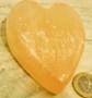 Seleniittisydän 100-120g 55-75mm, oranssi kivisydän
