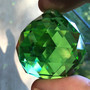 Kristallilasipallo 4cm vihreä, ripustettava, viistehiottu