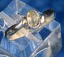 Hopeasormus sitriini 17mm, viistehiottu