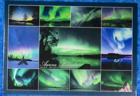 Postikortti revontulet 11 kuvaa Aurora Borealis Lapland NorthernLights