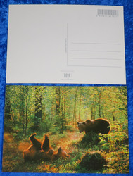 Postikortti karhut metsässä
