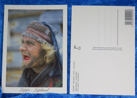 Postikortti Saamelaiset, vanha poromies